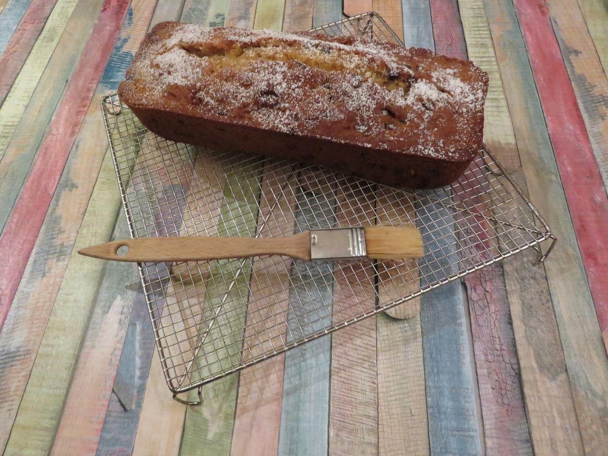 Mon cake friable à l'orange sanguine et aux pépites de chocolat