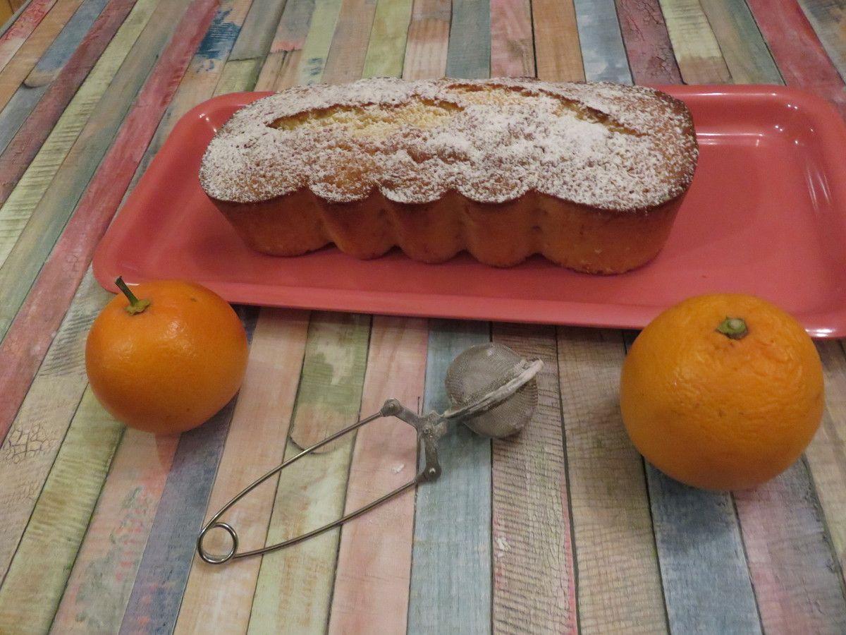Mon cake moelleux à l'orange sanguine