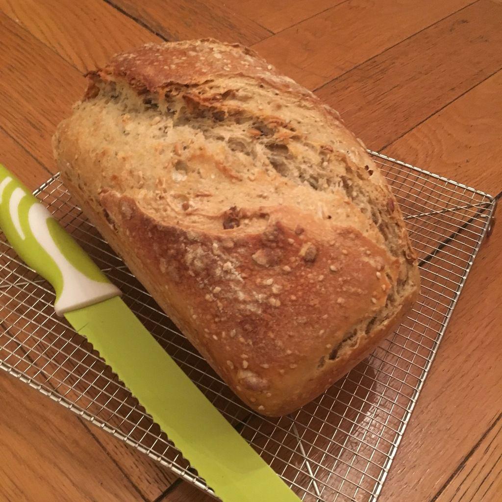 Mon pain aux graines de courge sur poolish
