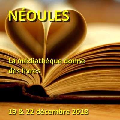 Local Var : Néoules - La médiathèque donne des livres - 19/12 & 22/12