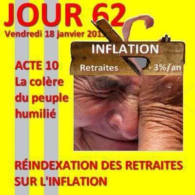 Gilets jaunes - JOUR 62 : le faux taux d'inflation de l'INSEE à l'origine de la révolte citoyenne des gilets jaunes ?
