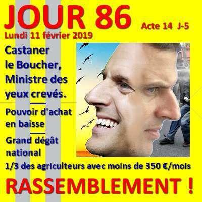 Gilets jaunes - JOUR 86 : Macron continue dans la voie de l'appauvrissement