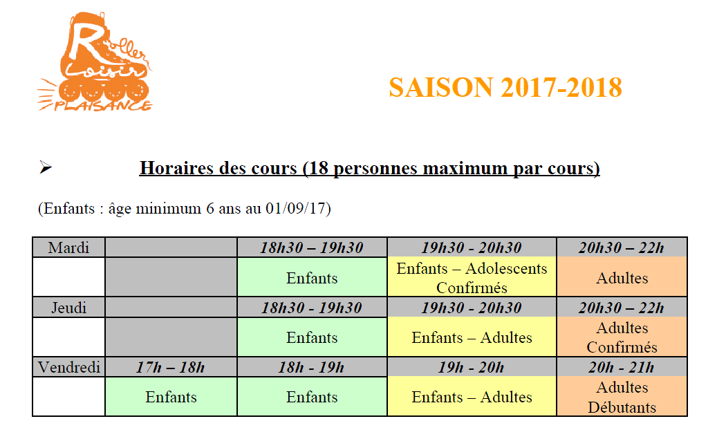 Inscriptions 2017/2018