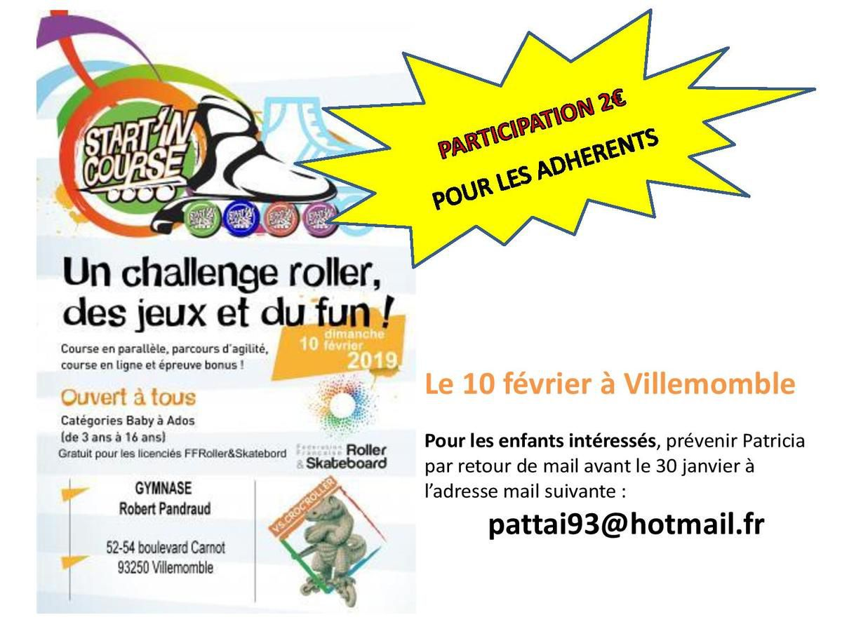 Start'in Villemomble dimanche 10 février