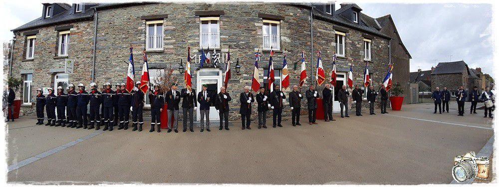 11 novembre 2019 ; la Commémoratuion de l'Armistice à Guipry-Messac