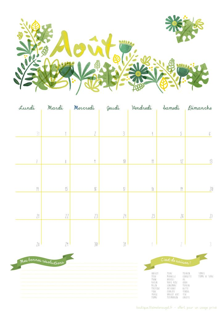 Calendrier 2017 juillet et aout free printable liliaimelenougat blog bd et b b blog - Calendrier chinois bebe 2017 ...