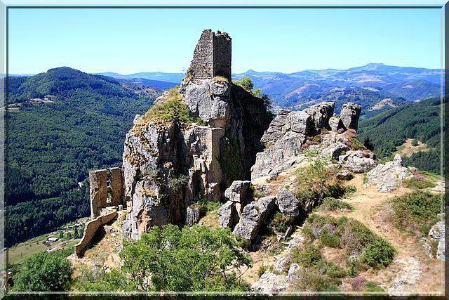 Diaporama château Rochebonne à Saint Martin de Valamas