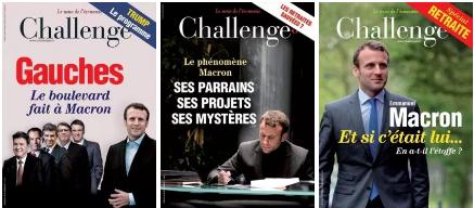 Quand les preuves s'accumulent : Challenges roule pour Macron