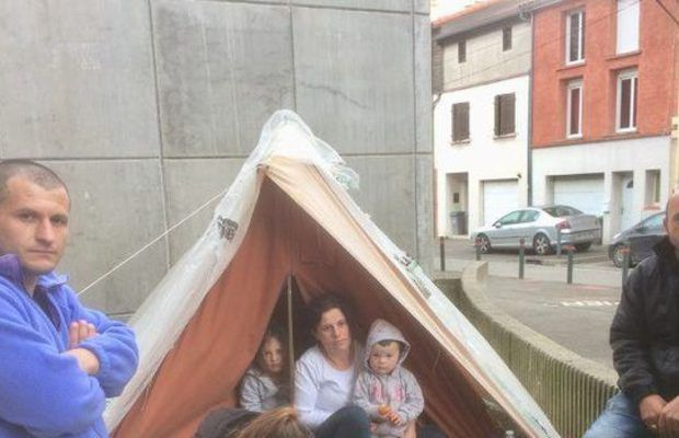 Toulouse(31): Les tentes de réfugiés albanais se multiplient à Saint-Cyprien