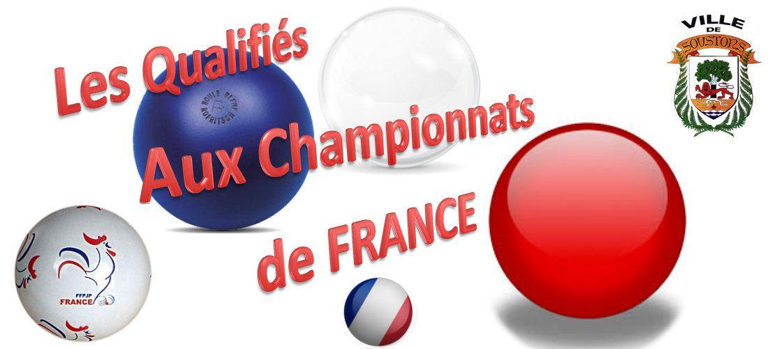 RUBRIQUE, Les Qualifiés aux Championnats de FRANCE 2017 à Soustons dans les LANDES: Page 1 - Les Départements du 05, du 53, et du 29