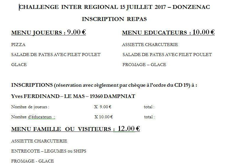 Le 1er Inter - Régional de DONZENAC en CORREZE sera une étape EDUCNAUTE-INFOS
