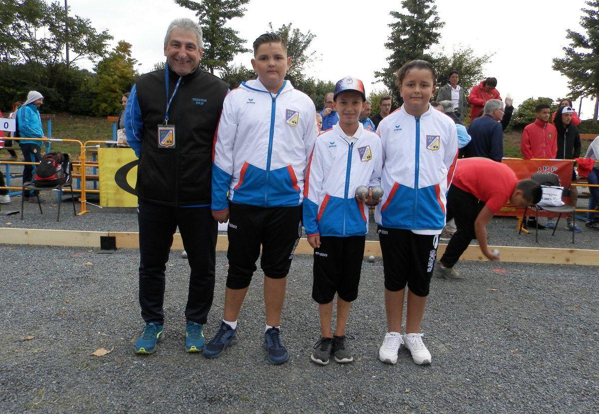 Les Championnats de FRANCE Triplettes Jeunes 2018 à CAEN ont donné de BEAUX CHAMPIONS
