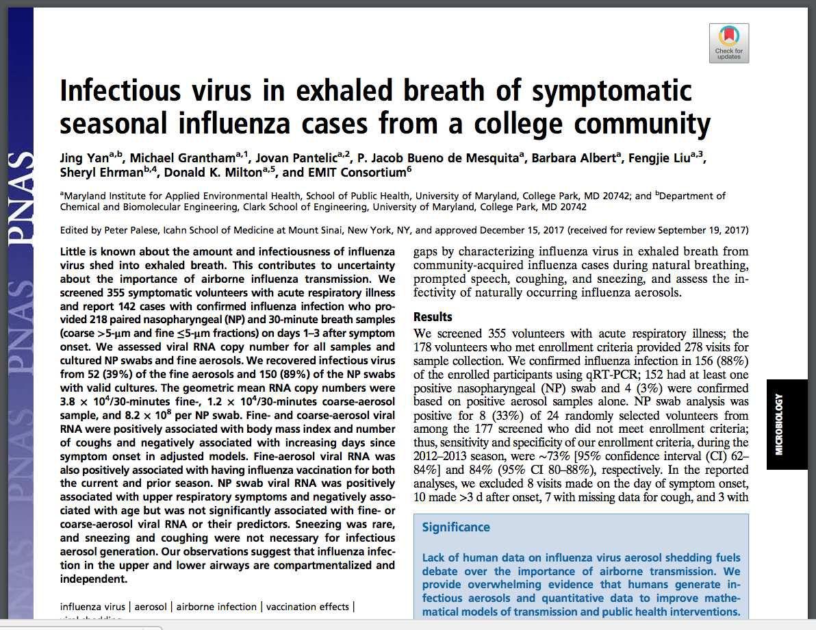 Nouvelle étude accablante: les vaccinés contre la grippe ont 6 fois plus de risque d'infecter leur entourage!