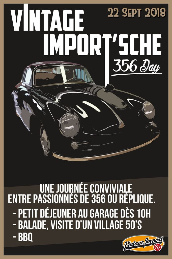 Vintage Import'Sche 356 day !