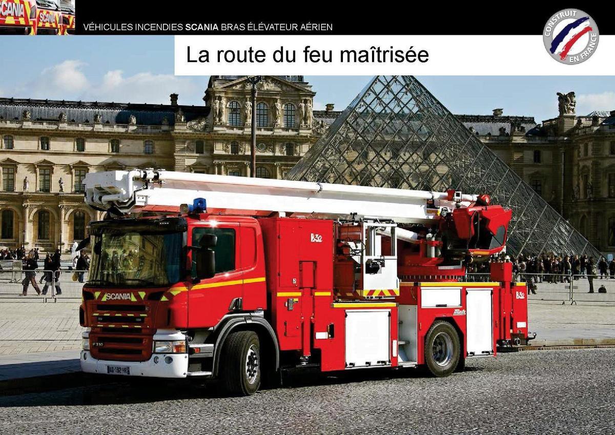 Scania BEA de la BSPP et pompiers Val d'Oise au 1/43 (Hachette/Ixo)