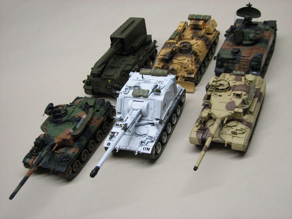 C'est vrai qu'ils ont de la gueule ces AMX-30 au 1/48 !