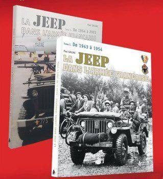 Les deux ouvrages sur la Jeep, dans l'Armée française sont proposés au prix de 32,43 € au lien de 48,65 €