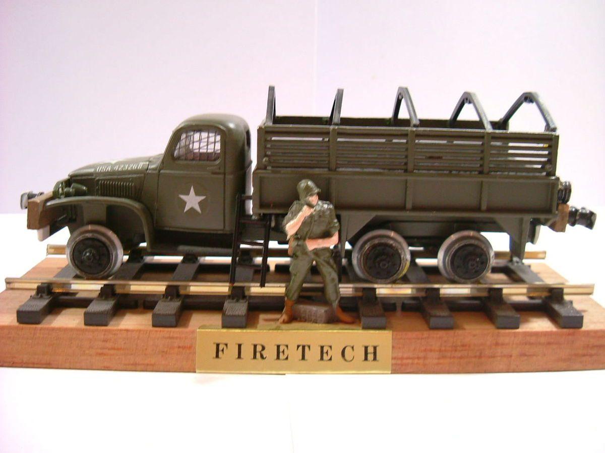 On retrouve bien le GMC 6x6 de chez solido avec les ajouts opérés par Firetech...