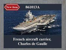 A noter la reproduction annoncée du Charles de Gaulle au 1/700
