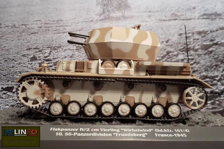 Flakpanzer IV/2 CM VIERLING WIRBELWIND  au 1/43 (Altaya/Ixo)