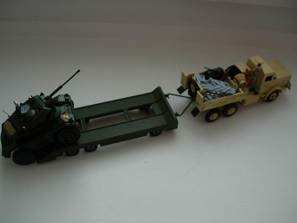 Modif : camion antar avec semi-remorque porte-char (par Bob)