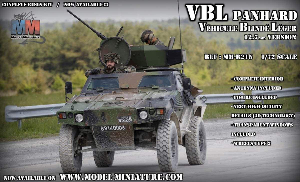 Panhard VBL 12,7 mm au 1/72 (Model-Miniature)