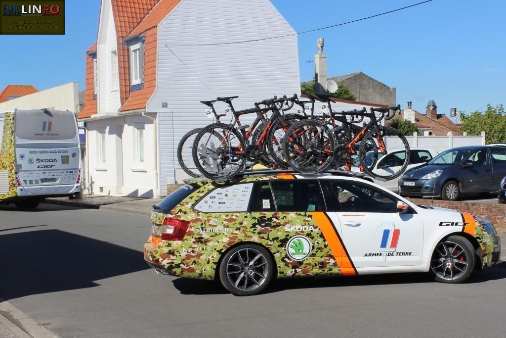 Véhicules&matériels : l'équipe cycliste de l'Armée de terre