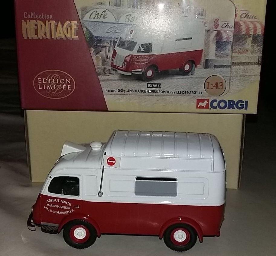 Renault 1000 kg ambulance des Marins de pompiers de Marseille au 1/43 (Corgi/Héritage)