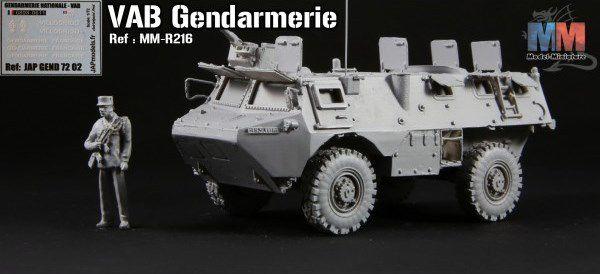 VAB 4x4 Gendarmerie française au Liban au 1:72 (Model-Miniature)
