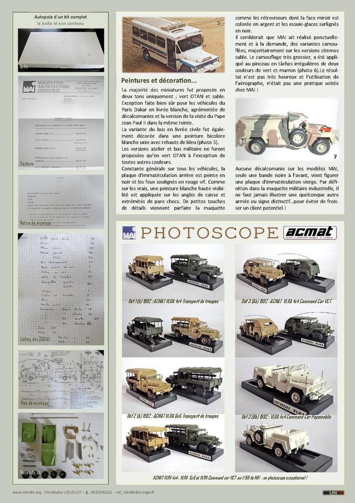 Milinfo-Focus HS n° 3, 8 et 11 : ACMAT vu M.A.I. (en 3 volets) - par Jérôme Hadacek