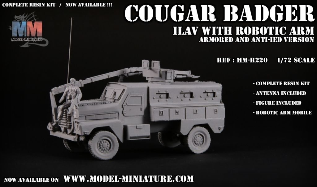 Cougar Badger ILAV au 1/72 (Model-minitaure)