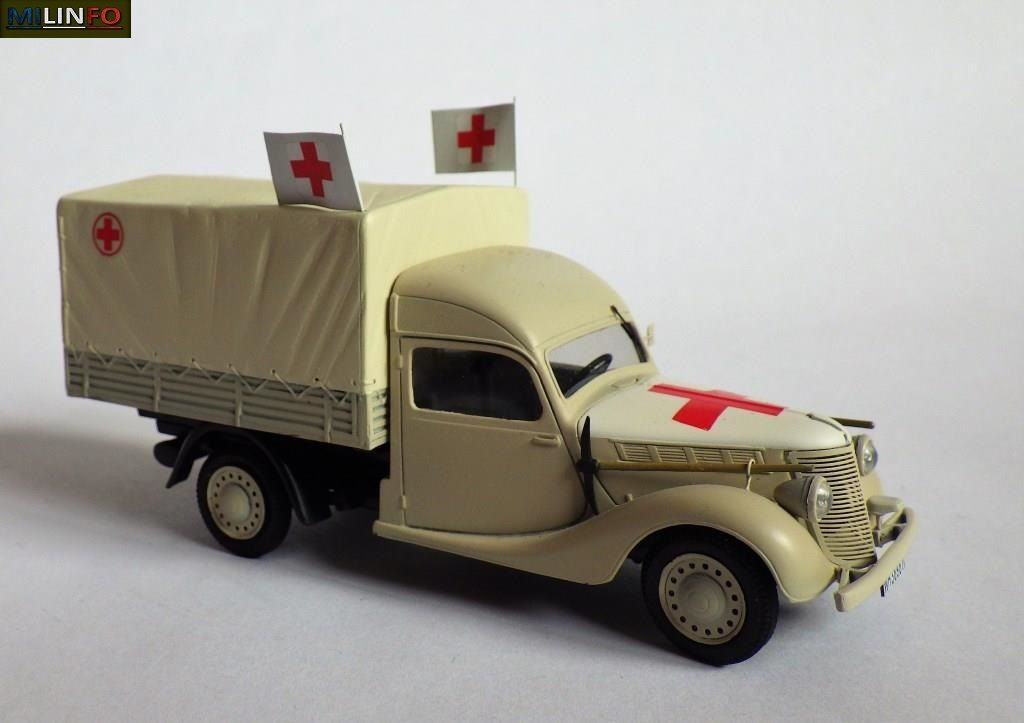 Camionnette Renault BFP Primaquatre, version France 1943 « Sanitätwagen » (5 photos)