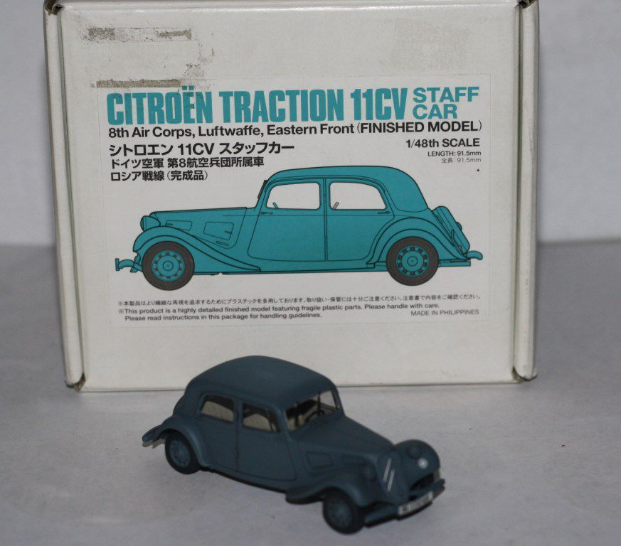 Traction Avant 11CV de la Luftwaffe au 1/48 (Tamiya)