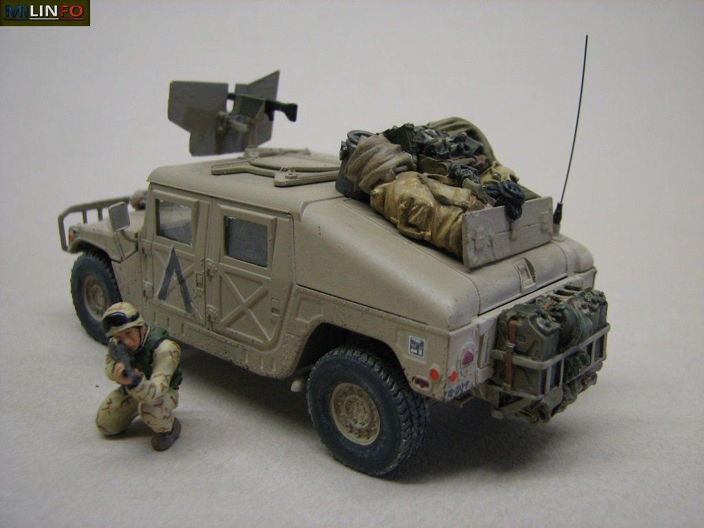 Diaporama 2 : le Hummer au 1:48 de chez Tamiya monté et peint par Elodie avec ajouts de Robert