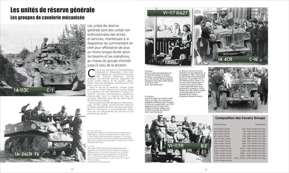Nouveauté librairie : U.S. ARMY 1944. LES MARQUAGES DES VEHICULES (Hiostoire&Collections)