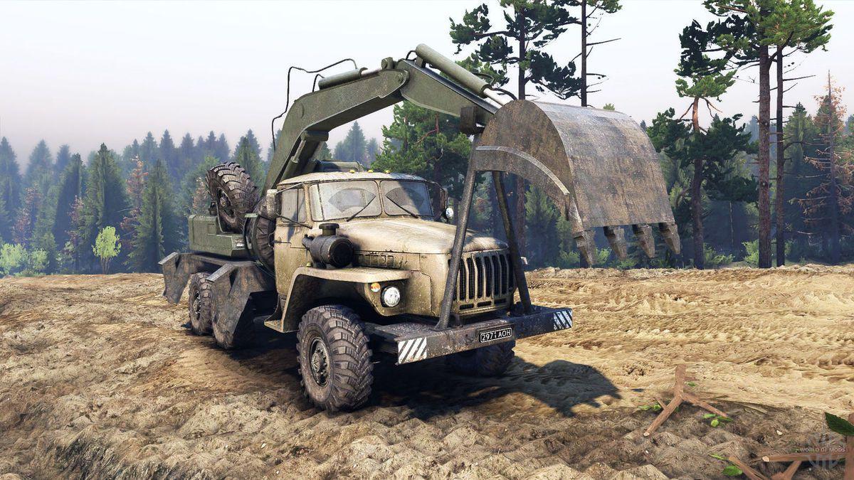 camion URAL  4320-10 AE-17 pelle au 1/43 (Scale) par Hervé C.
