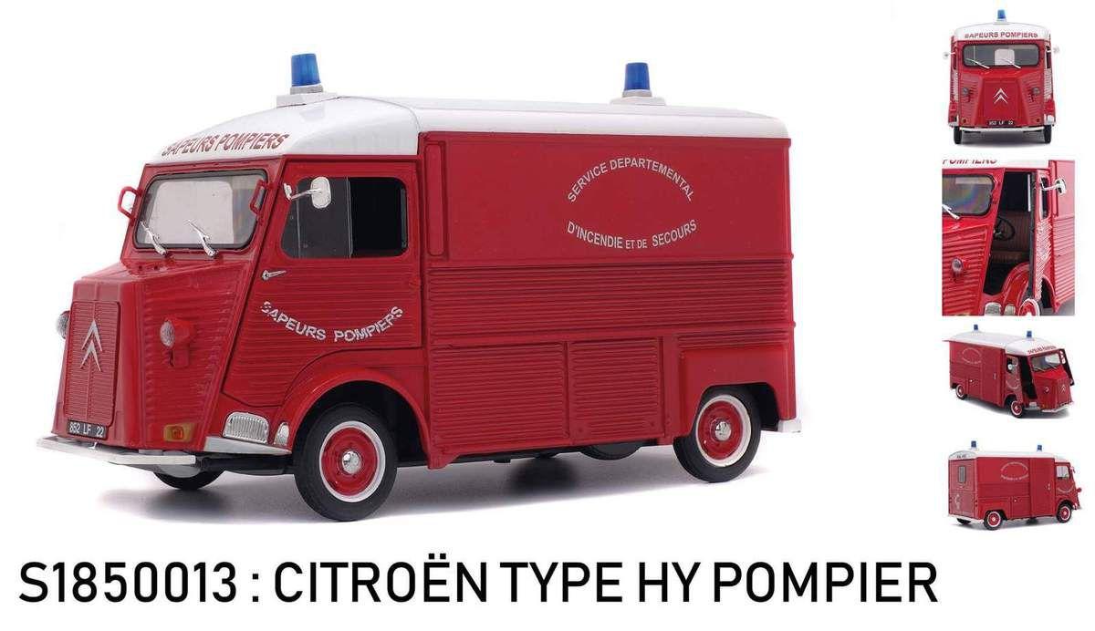 Citroën HY Police PIE  et sapeurs-pompiers au 1/18 (Solido) - Mise à jour 3 avril 2018
