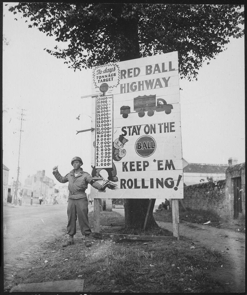 """La """"Red Ball Express"""" vue par Bob"""