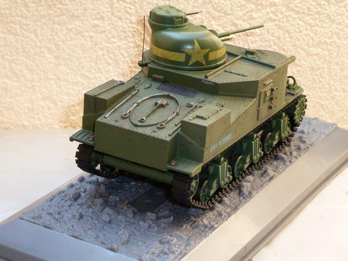M3 Lee au 1/43 de chez Altaya/Ixo après application d'une légère platine
