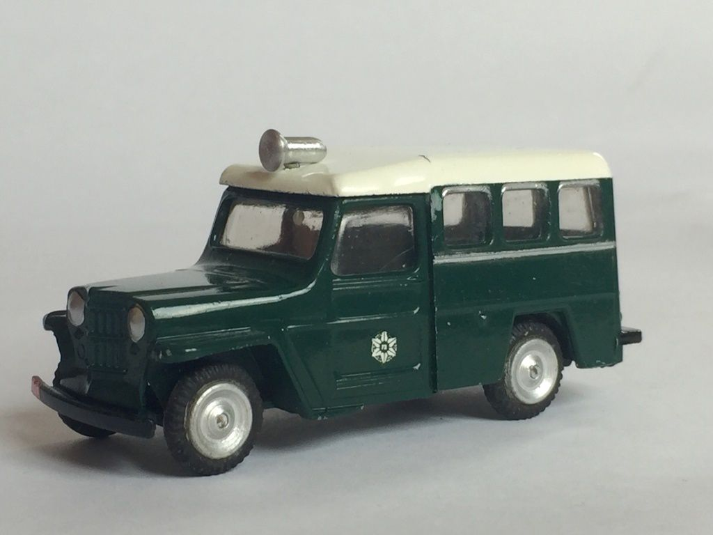 JEEPSTER POLICE GAMDA 1/43 Made in ISRAEL
