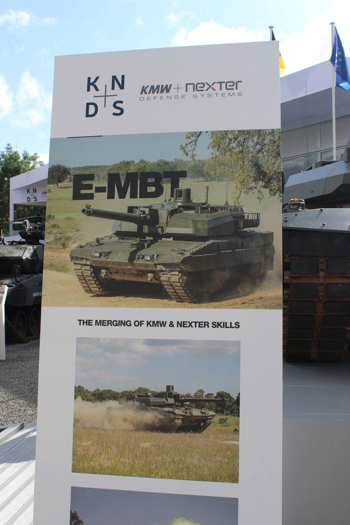 Nexter/KMW : l'E-MBT, char du futur...
