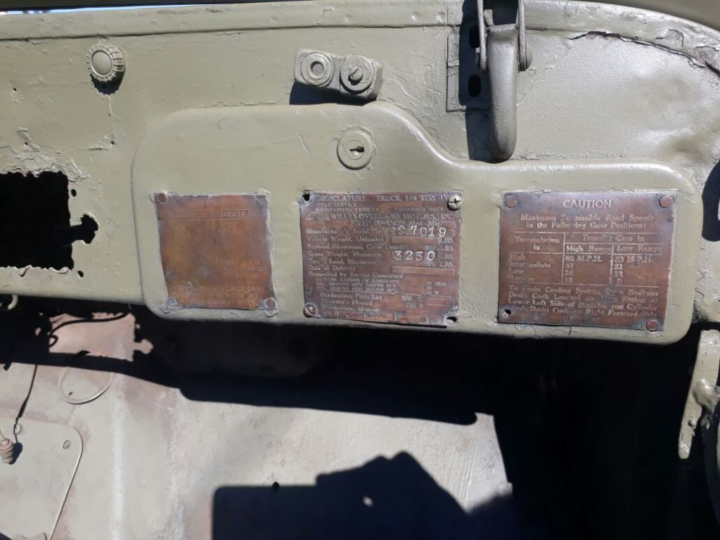 Identification d'une WILLYS MB - Serial Number US