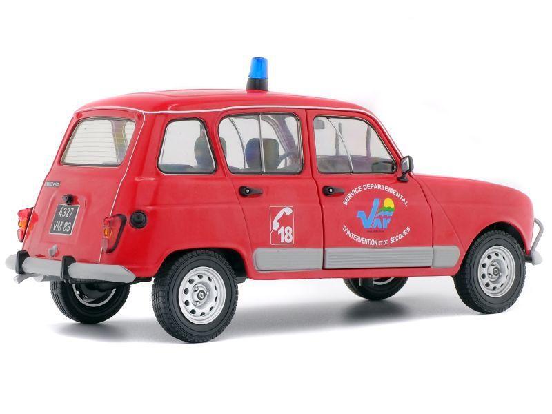 Renault 4 GTL Gendarmerie et pompiers au 1/18 (Solido)