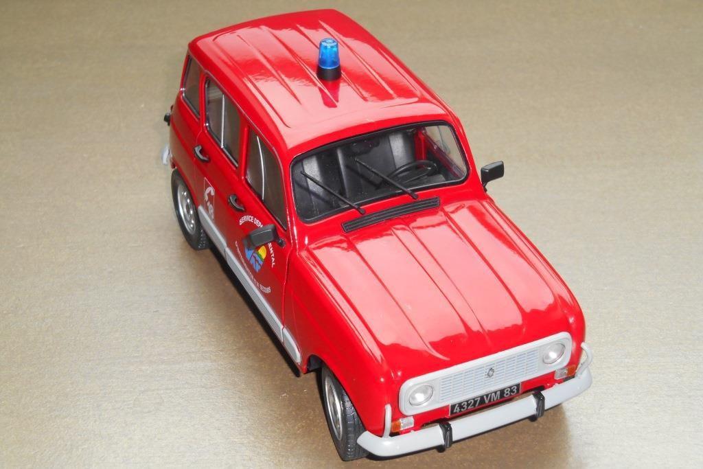 Renault 4 GTL des sapeurs-pompiers du Var (Solido - 1/18)