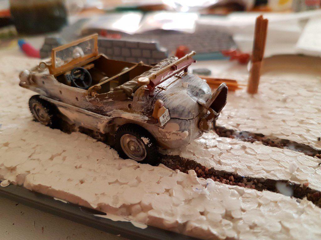 """Diorama : """"Offensive hivernale dans les Ardennes"""" (par Patrick G.)"""