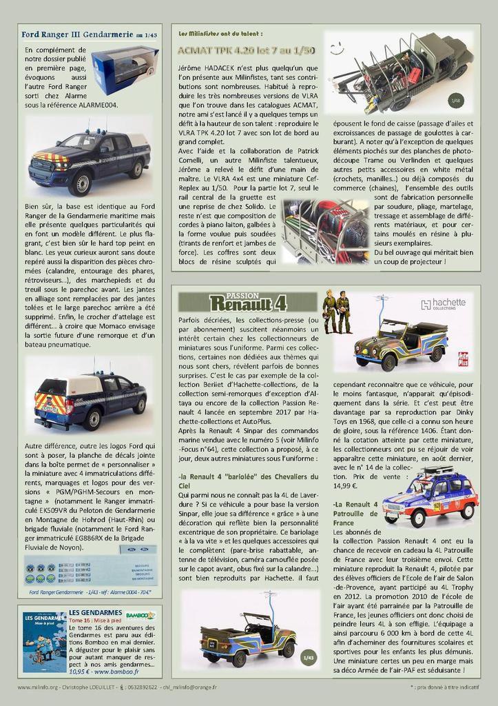 Milinfo-Focus n° 72 : le Ford Ranger Gendarmerie maritime (Alarme-1/43)