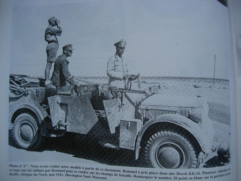 Rommel dans sa Kz-15...(figurine Tamiya et minaiture Atlas modifiée