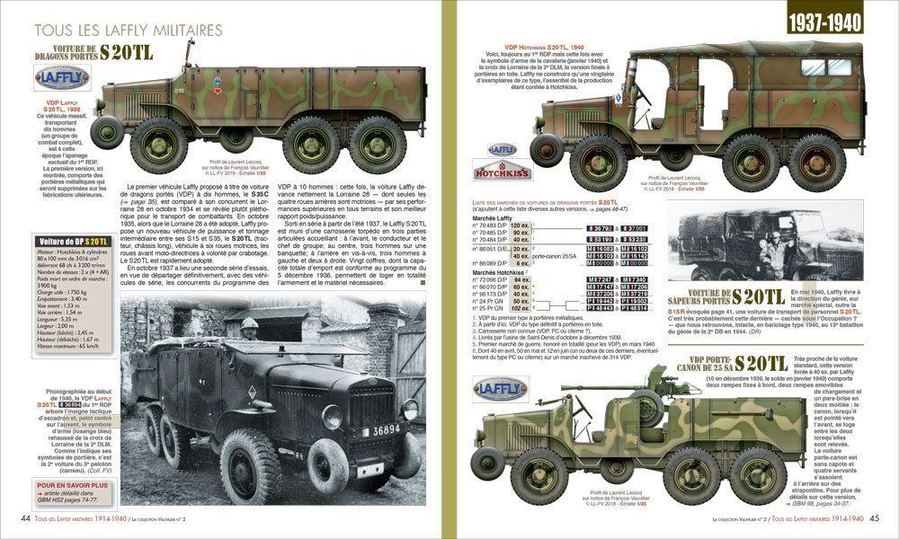 Extrait du volume 2 consacré aux véhicules militaires Laffly de 1914 à 1940