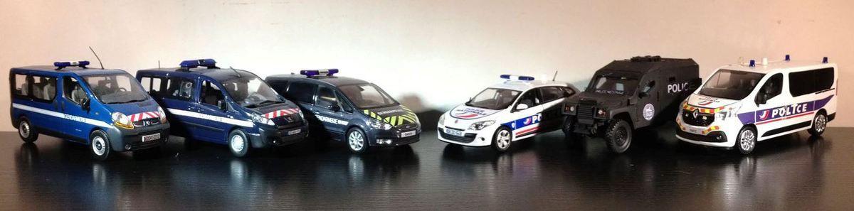 Les miniatures de Police au 1/43 de Rénald