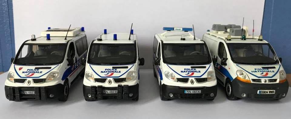 Quatuor de Renault Trafic Police : autoroute / maintien de l'ordre / sécurité publique / VEZI.